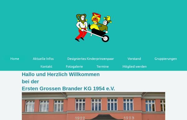 Vorschau von www.erstegrossebranderkg.de, Erste Große Brandner KG 1954 e.V.