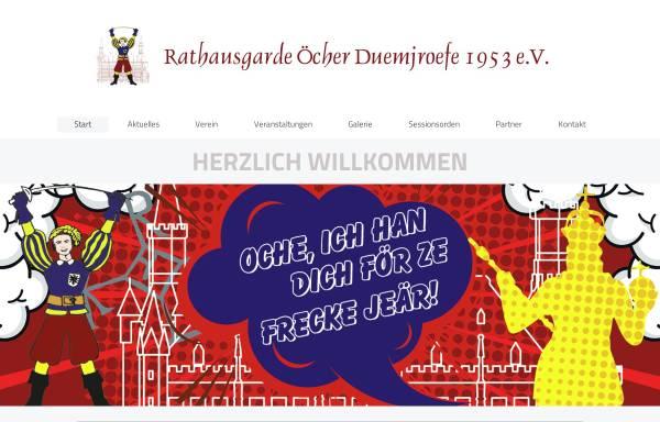 Vorschau von www.duemjroefe.de, KG Öcher Duemjroefe 1953 e.V.