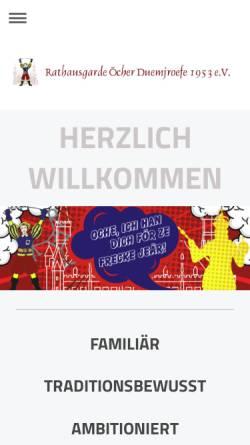 Vorschau der mobilen Webseite www.duemjroefe.de, KG Öcher Duemjroefe 1953 e.V.