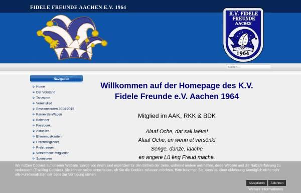 Vorschau von www.fidelefreunde.de, K.V. Fidele Freunde e.V. Aachen 1964