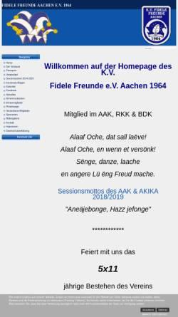 Vorschau der mobilen Webseite www.fidelefreunde.de, K.V. Fidele Freunde e.V. Aachen 1964