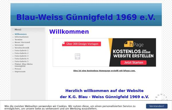 Vorschau von www.blauweiss-guennigfeld.npage.de, KaGe Blau-Weiß Günnigfeld 1969 e.V.