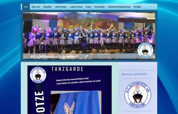 Vorschau von www.kg-kleffbotze.de, Karnevalsgesellschaft Kleffbotze e.V. Friesdorf