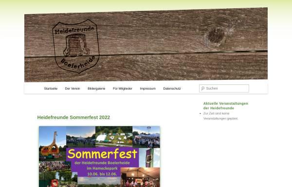 Vorschau von www.heidefreunde.de, Heidefreunde Boelerheide - Verein zur Pflege heimatlichen Brauchtums
