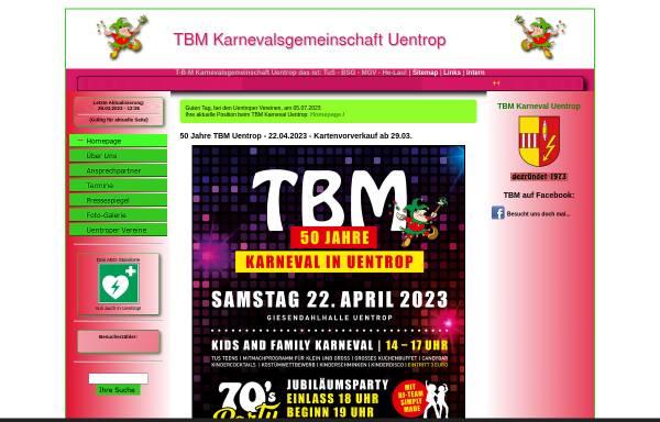 Vorschau von www.tbm-uentrop.de, TBM - Karnevalsgesellschaft Uentrop