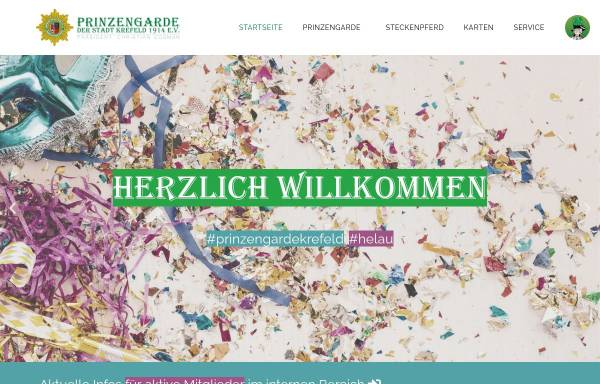 Vorschau von www.prinzengarde-krefeld.de, Prinzengarde der Stadt Krefeld 1914 e.V.