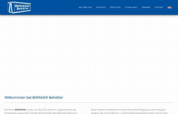 Vorschau von www.beringer-behaelter.de, Beringer GmbH