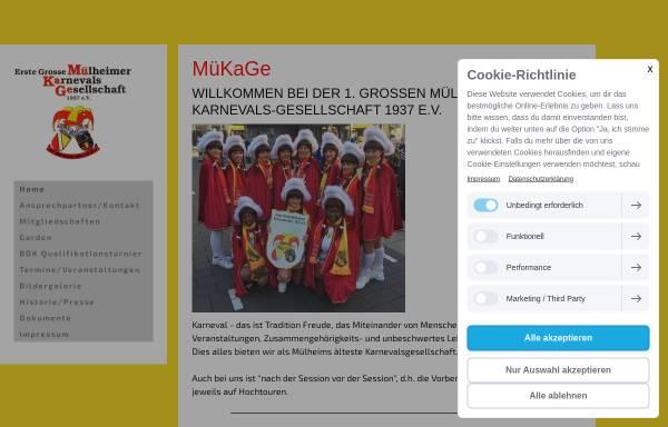 Vorschau von www.muekage.de, Erste Grosse Mülheimer Karnevals-Gesellschaft 1937 e.V.
