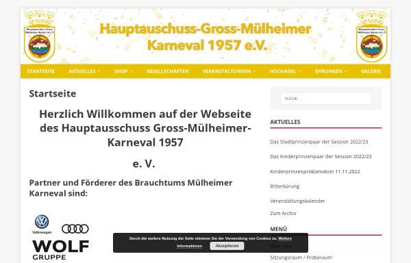 Vorschau von www.muelheimer-karneval.de, Hauptausschuss Gross-Mülheimer-Karneval 1957 e. V.