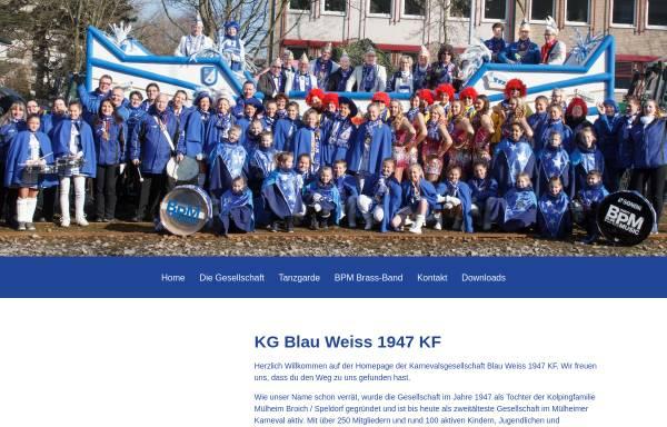Vorschau von www.kgblauweiss1947kf.de, KG Blau - Weiss 1947 KF Mühlheim an der Ruhr