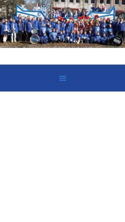 Vorschau der mobilen Webseite www.kgblauweiss1947kf.de, KG Blau - Weiss 1947 KF Mühlheim an der Ruhr
