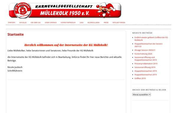 Vorschau von www.kg-muellekolk.de, Karnevalsgesellschaft Müllekolk e.V. Neuss-Weckhoven 1950