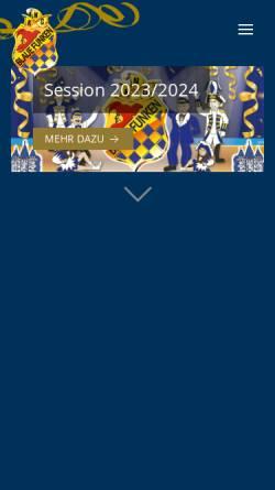 Vorschau der mobilen Webseite www.blaue-funken-neuss.de, Neusser Karnevalsgesellschaft Blaue Funken e.V.