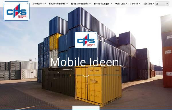 Vorschau von www.chs-container.de, CHS CONTAINER Handel GmbH