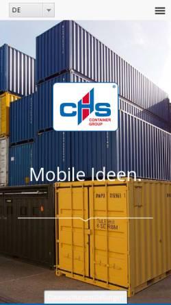 Vorschau der mobilen Webseite www.chs-container.de, CHS CONTAINER Handel GmbH