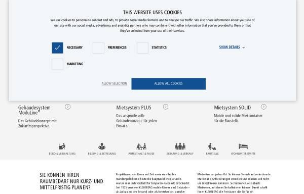 Vorschau von www.kleusberg.de, Container-Marktplatz.de - Kleusberg GmbH & Co. KG