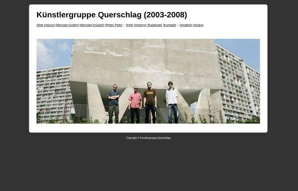 Vorschau von www.ppzk.de, Künstlergruppe Querschlag (2003-2008)