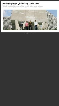 Vorschau der mobilen Webseite www.ppzk.de, Künstlergruppe Querschlag (2003-2008)