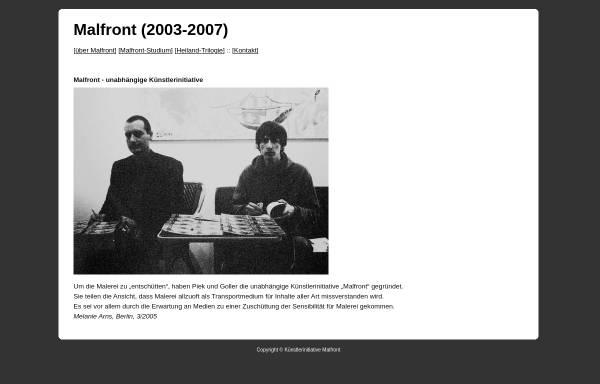 Vorschau von www.ppzk.de, Malfront (2003-2007)