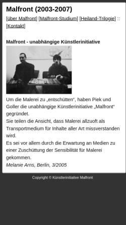 Vorschau der mobilen Webseite www.ppzk.de, Malfront (2003-2007)