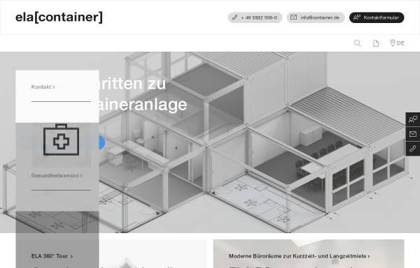 Vorschau von www.container.de, Ela Container für Baustellen und Industrie GmbH