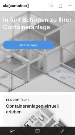 Vorschau der mobilen Webseite www.container.de, Ela Container für Baustellen und Industrie GmbH