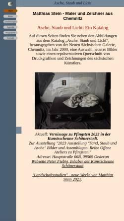 Vorschau der mobilen Webseite www.stein-malerei.de, Stein, Matthias