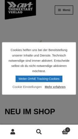 Vorschau der mobilen Webseite www.thenextart.de, Thenextart