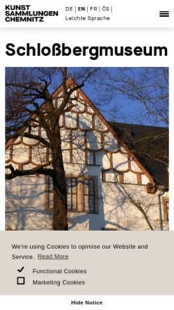 Vorschau der mobilen Webseite www.schlossbergmuseum.de, Schloßbergmuseum