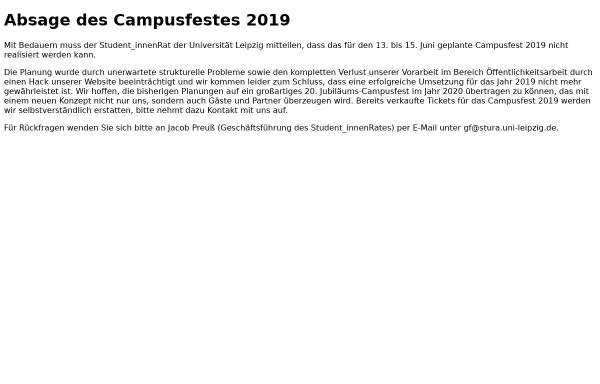 Vorschau von www.campusfest-leipzig.de, Campusfest Leipzig
