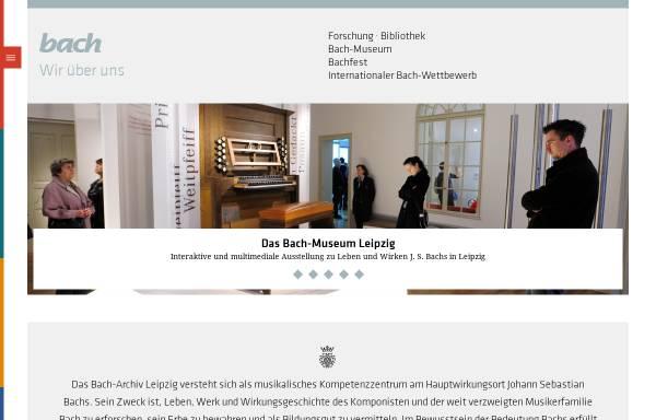 Vorschau von www.bach-leipzig.de, Bach-Archiv Leipzig