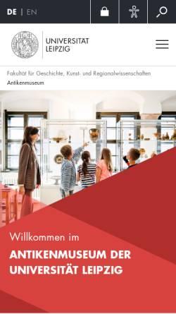 Vorschau der mobilen Webseite www.uni-leipzig.de, Institut für Klassische Archäologie und Antikenmuseum