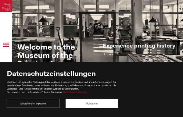 Vorschau von www.druckkunst-museum.de, Museum für Druckkunst