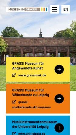 Vorschau der mobilen Webseite www.grassimuseum.de, Museum für Kunsthandwerk