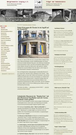 Vorschau der mobilen Webseite www.runde-ecke-leipzig.de, Museum in der