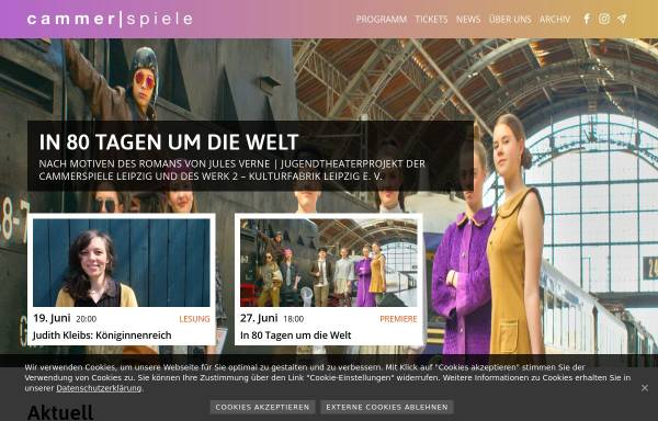 Vorschau von www.cammerspiele.de, Cammerspiele Leipzig e.V.