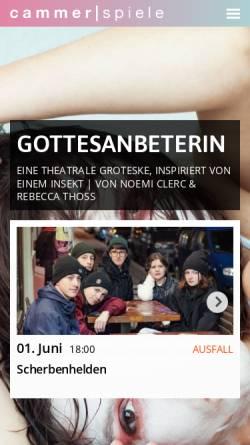 Vorschau der mobilen Webseite www.cammerspiele.de, Cammerspiele Leipzig e.V.