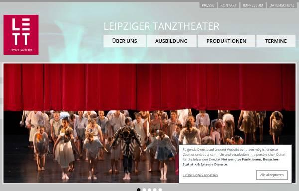 Vorschau von www.leipzigertanztheater.de, Leipziger Tanztheater