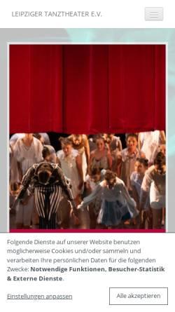 Vorschau der mobilen Webseite www.leipzigertanztheater.de, Leipziger Tanztheater