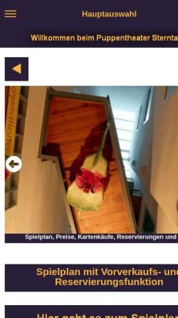 Vorschau der mobilen Webseite www.puppentheater-sterntaler.de, Puppentheater Sterntaler