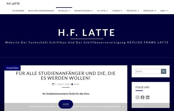 Vorschau von www.hf-latte.de, Fachschaft Schiffbau - Heylige Frawe Latte