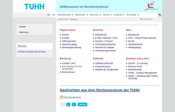 Vorschau von www.tuhh.de, TUHH - Rechenzentrum