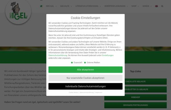 Vorschau von www.pro-igel.de, Pro Igel