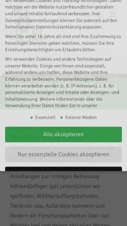 Vorschau der mobilen Webseite www.pro-igel.de, Pro Igel