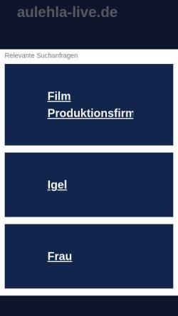 Vorschau der mobilen Webseite www.aulehla-live.de, Ralf & Gabys Igelpage