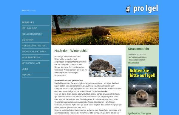 Vorschau von www.pro-igel.ch, Verein Pro Igel