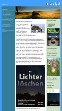 Vorschau der mobilen Webseite www.pro-igel.ch, Verein Pro Igel