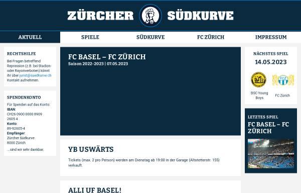 Vorschau von www.suedkurve.ch, FCZ - Südkurve