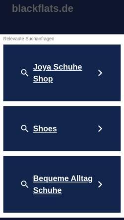 Vorschau der mobilen Webseite www.blackflats.de, Black Silk Queens