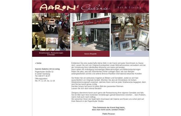 Vorschau von www.aarons-galerie.de, Aarons Galerie